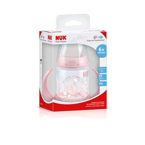 Copo Treinamento - First Choice - 150 ml - (+ 6 meses) - Rosa - Nuk