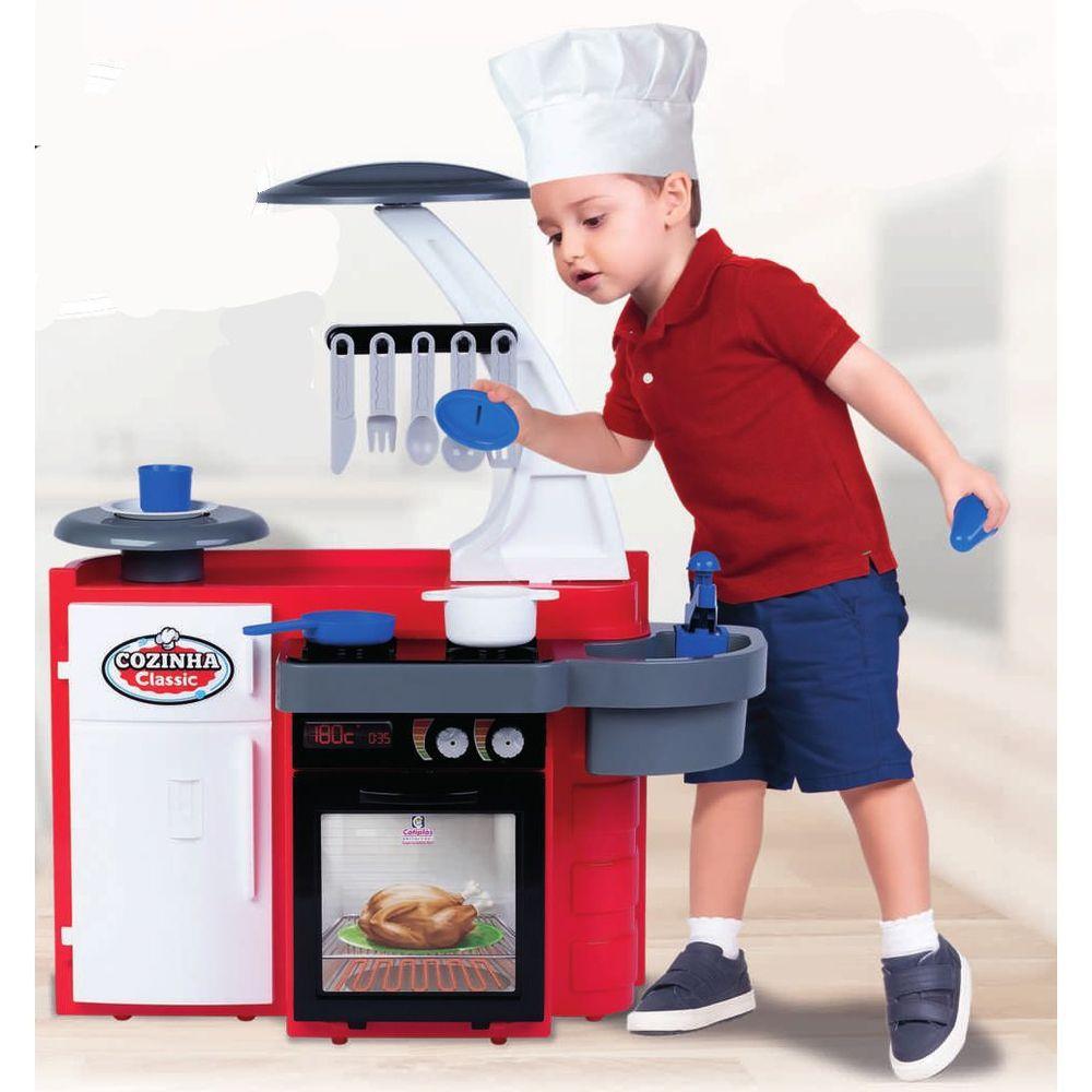 Cozinha Classic com Acessórios - Vermelha - Cotiplás