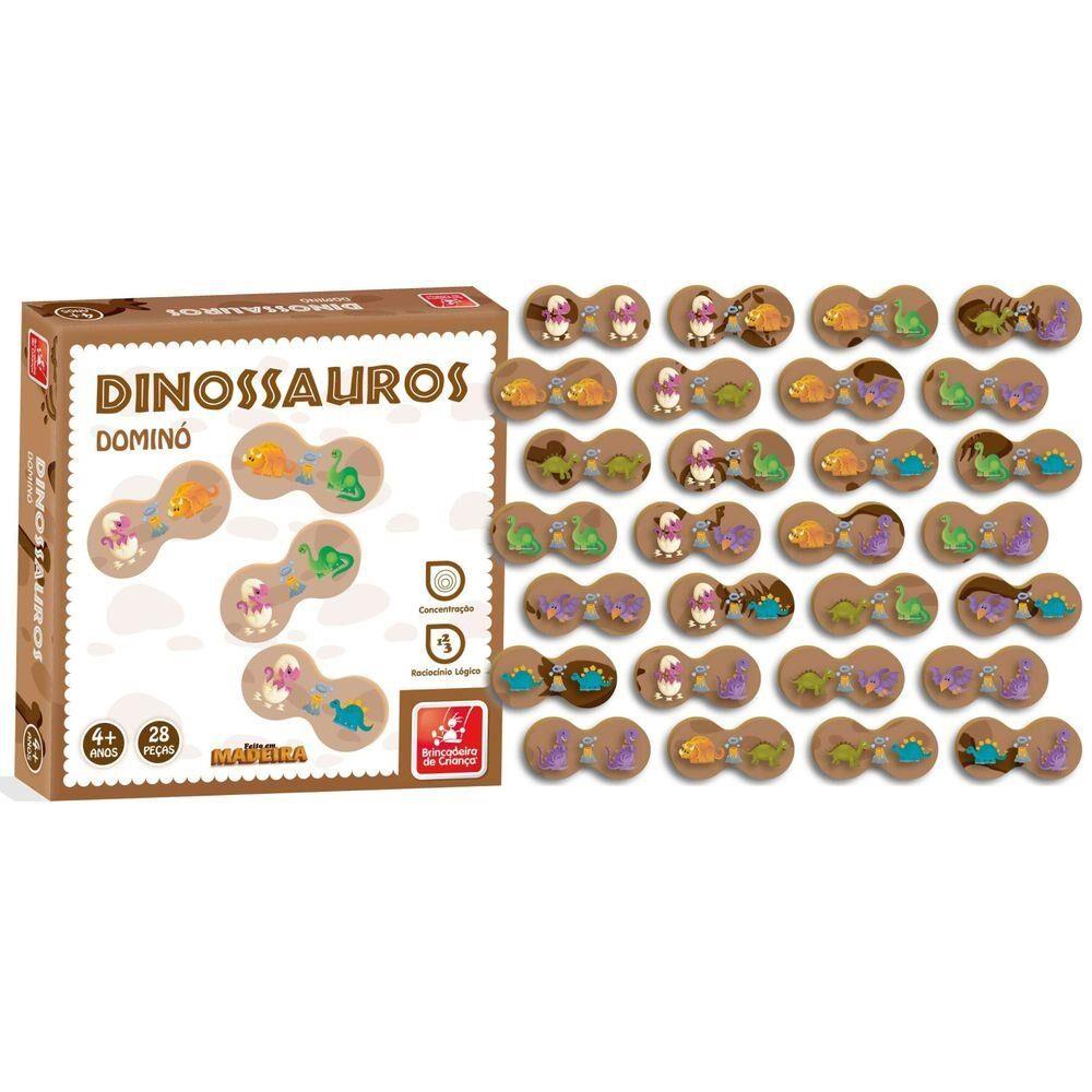 Dominó Dinossaurinhos - Brincadeira de Criança