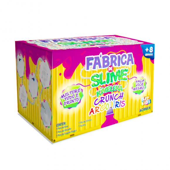 Fábrica de Slime - Kimeleka - Crunch - Arco-Íris - Acrilex