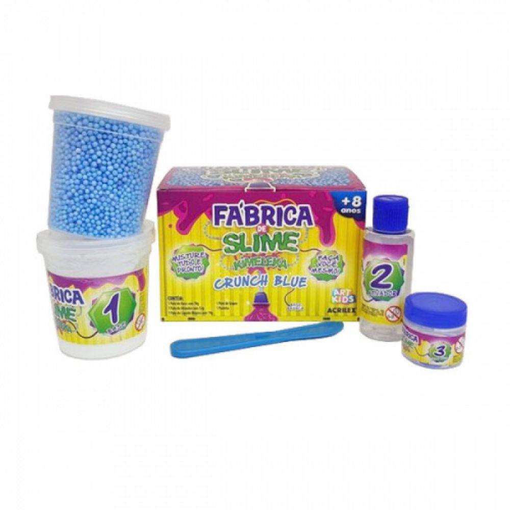 Fábrica de Slime - Kimeleka - Crunch Blue  - Acrilex