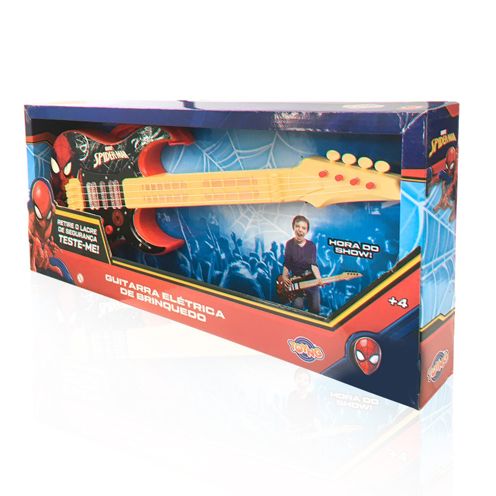 Guitarra Elétrica Infantil - Homem Aranha - Toyng