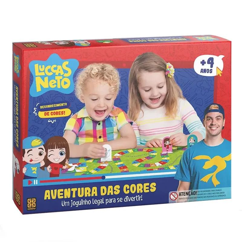 Jogo Aventura Das Cores Luccas Neto - Grow