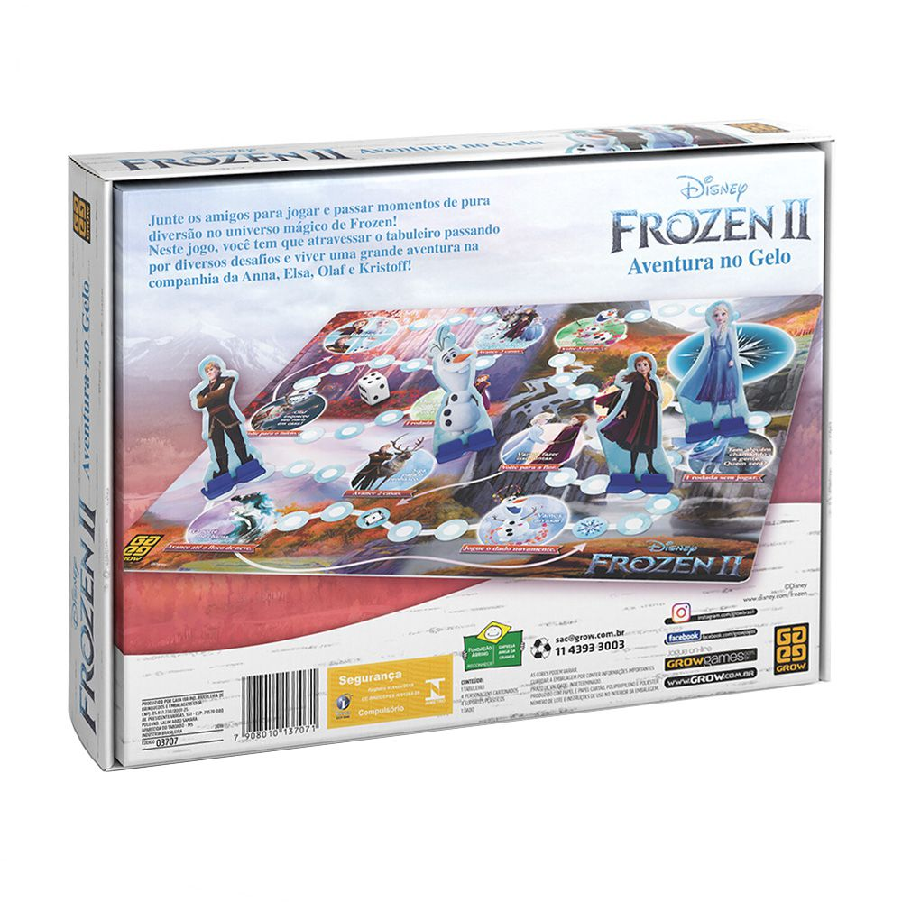 Jogo Aventura no Gelo - Frozen II - Grow