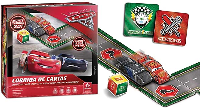 Jogo Corrida de Cartas - Carros - Copag