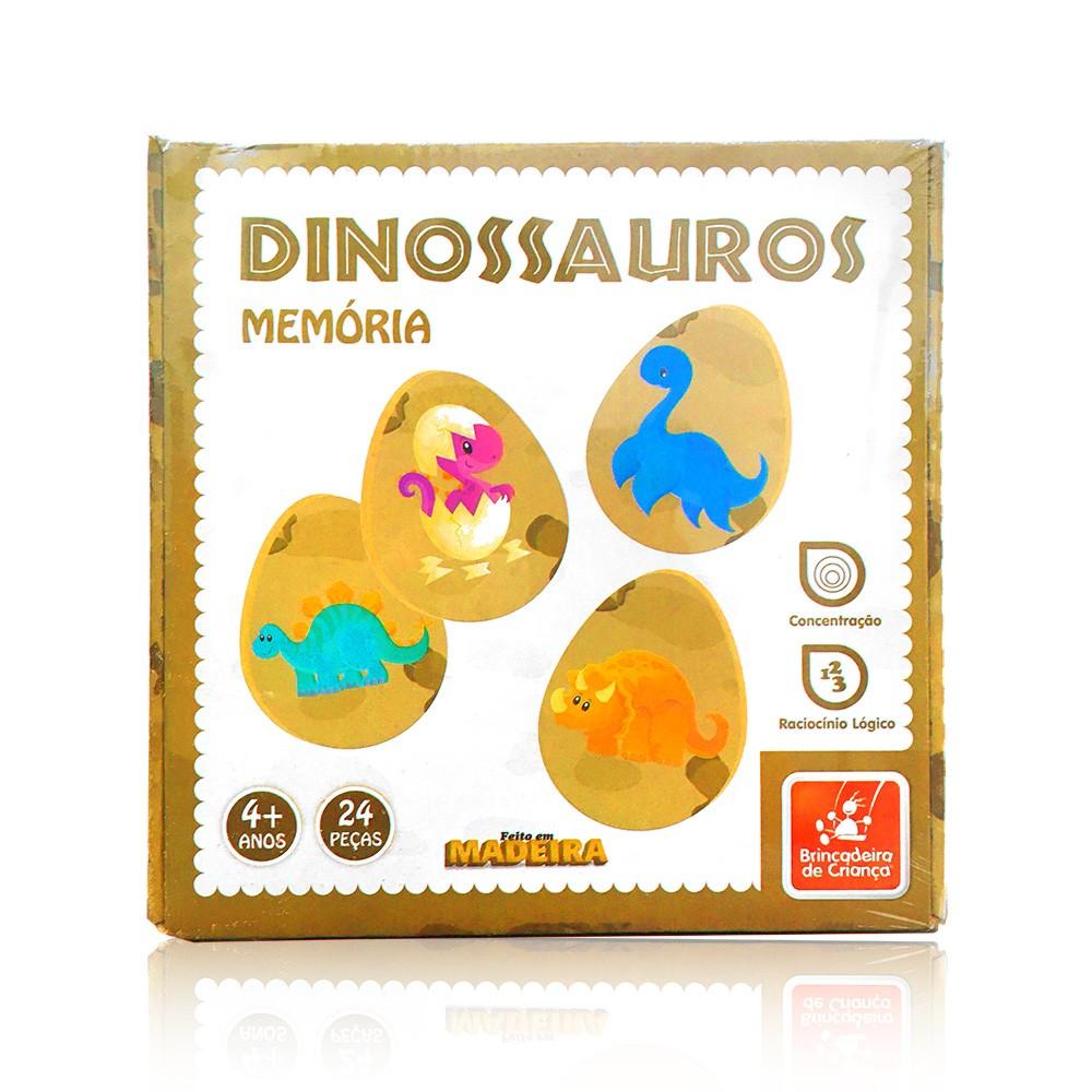 Jogo da Memória - Dinossauros - Brincadeira de Criança