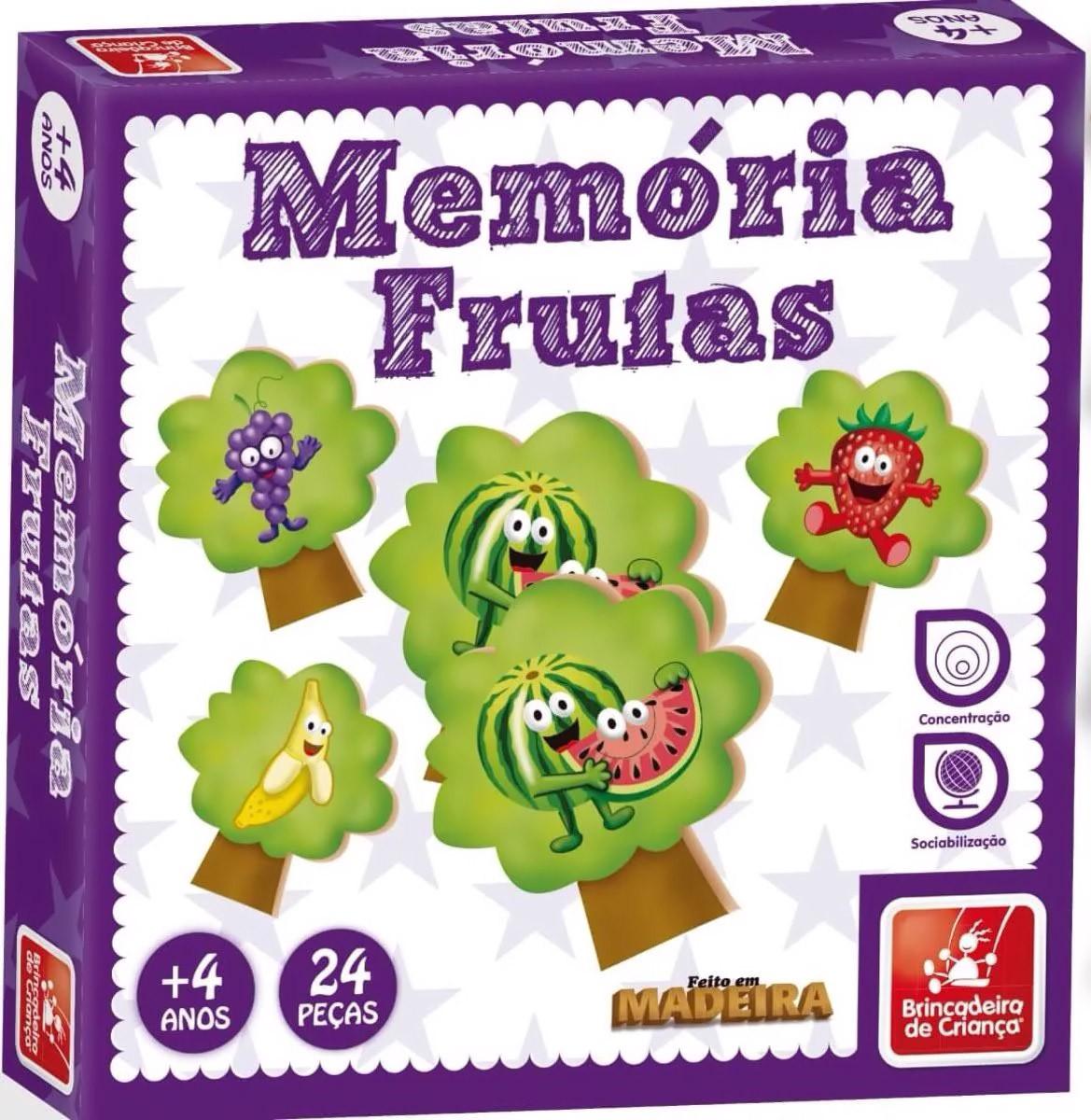 Jogo da Memória - Frutas - Brincadeira de Criança