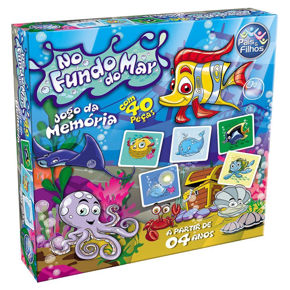 Jogo da Memória - Fundo do Mar - 40 peças - Pais e Filhos