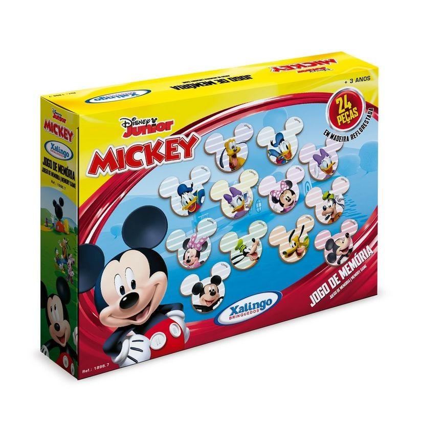 Jogo da Memória - Mickey - Disney - Em Madeira - Xalingo