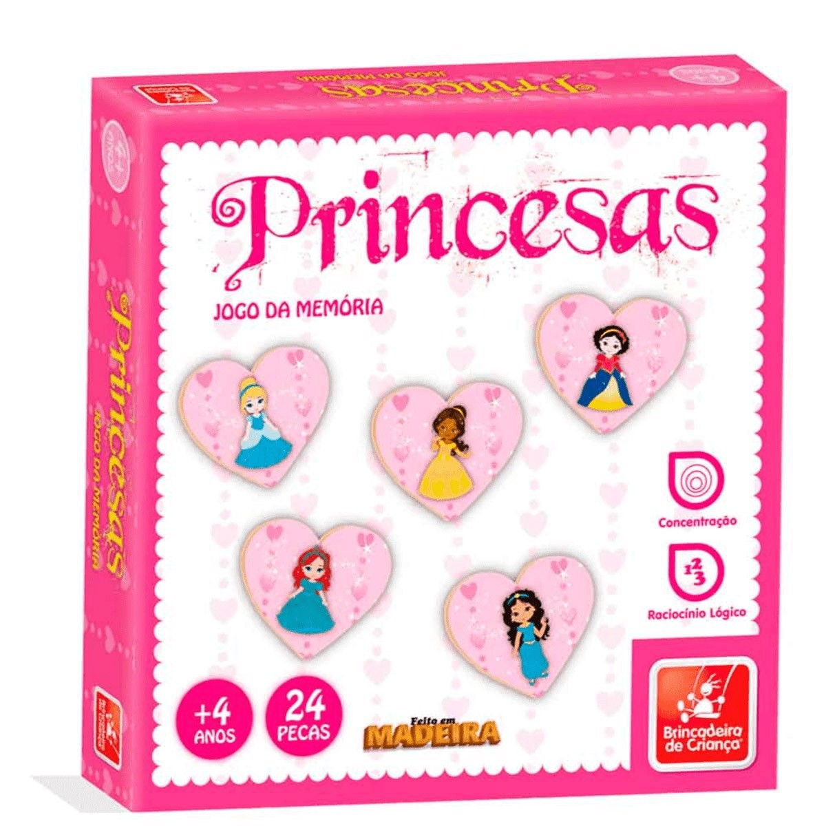 Jogo da Memória - Princesas - Brincadeira de Criança