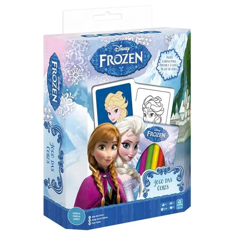 Jogo das Cores - Disney Frozen com giz - Copag