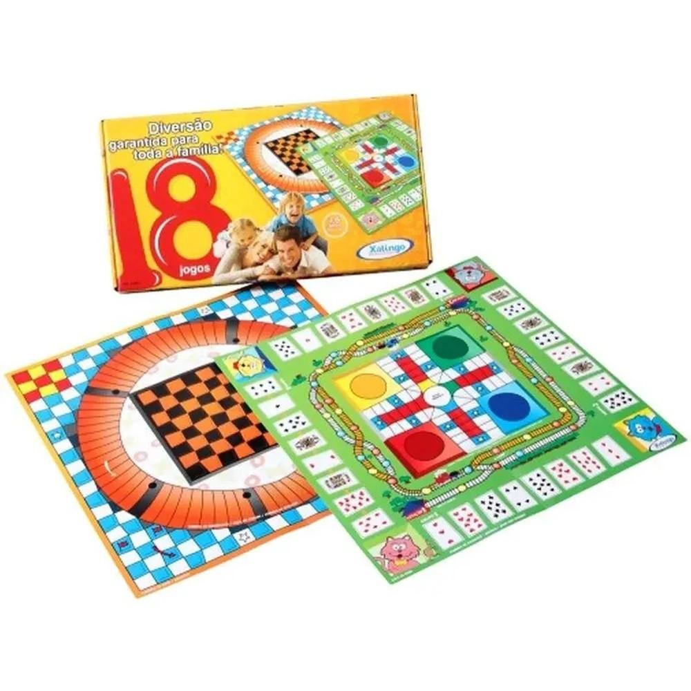 Jogos de Tabuleiro - 18 Jogos - Xalingo