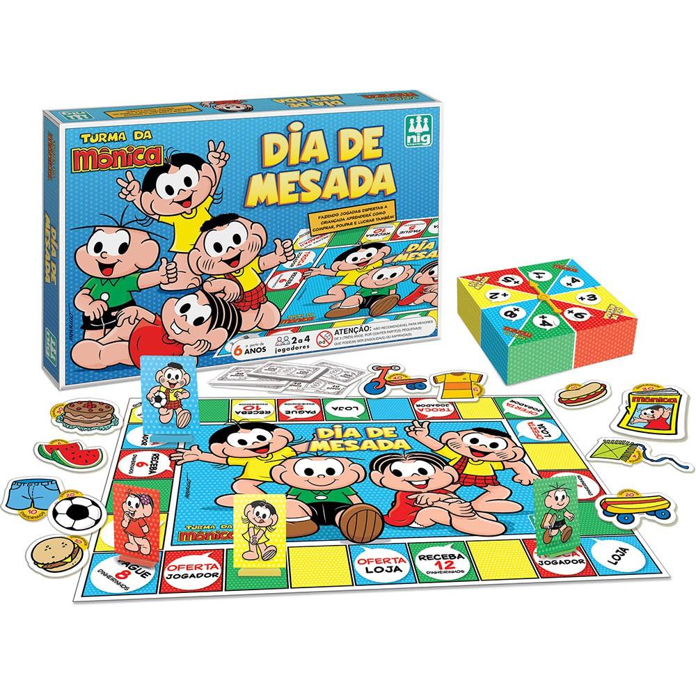 Jogo Dia de Mesada - Turma da Mônica - Nig Brinquedos