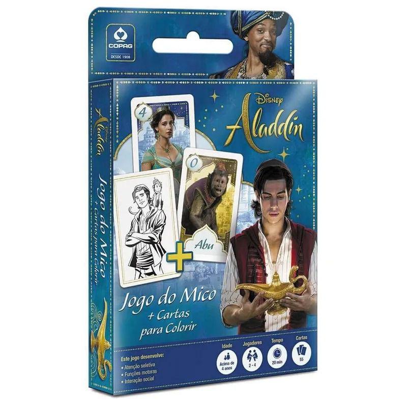 Jogo do Mico + Cartas para Colorir - Aladdin - Copag