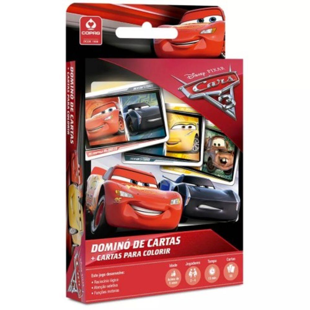 Jogo - Dominó de Cartas Para Colorir - Carros 3 - Copag