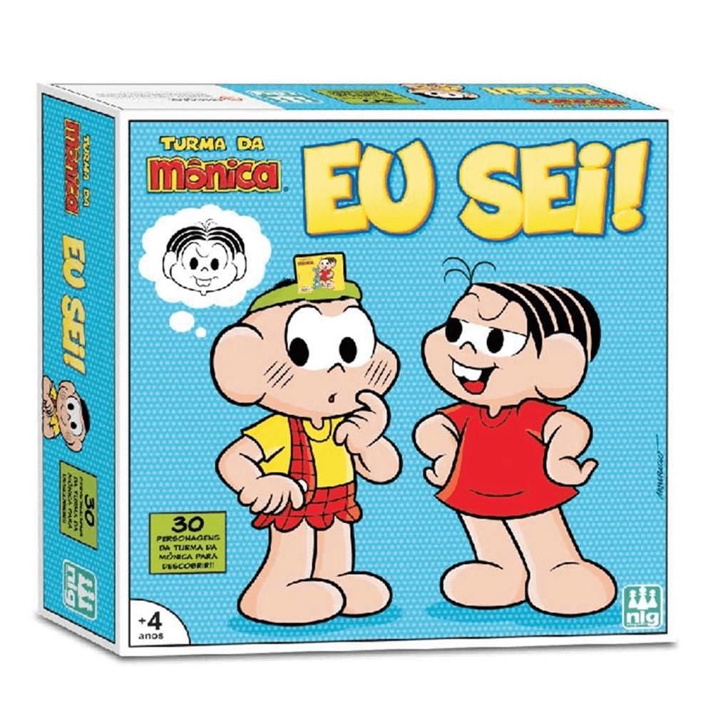 Jogo Eu Sei! - Turma da Mônica - Nig Brinquedos