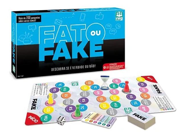 Jogo Fato ou Fake? - Nig Brinquedos