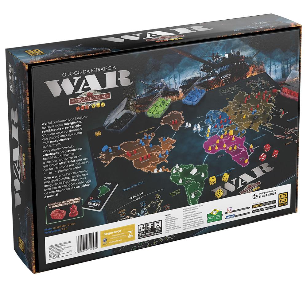 Jogo War -  Edição Especial - Grow