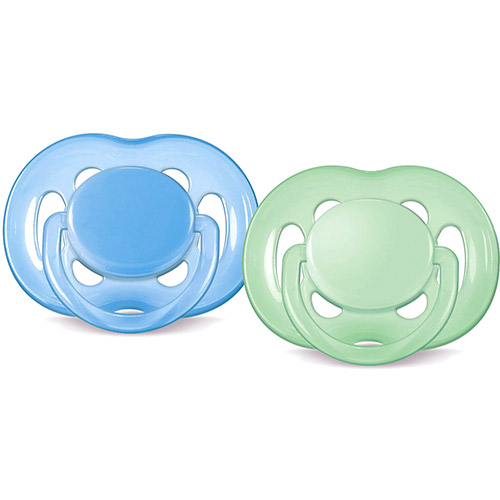 Kit 2 Chupetas Freeflow - Azul e Verde  - (6 a 18 meses) - Philips Avent