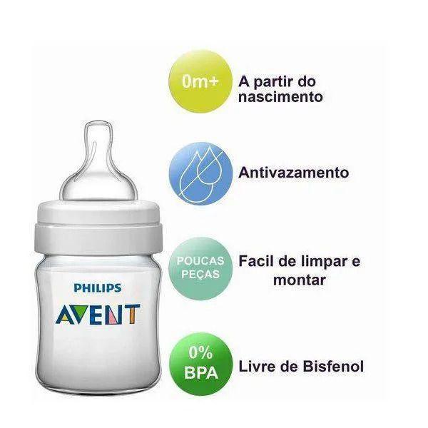 Kit 2 Mamadeiras Anticólicas - 125 ml + 260 ml - 0m + - Philips Avent