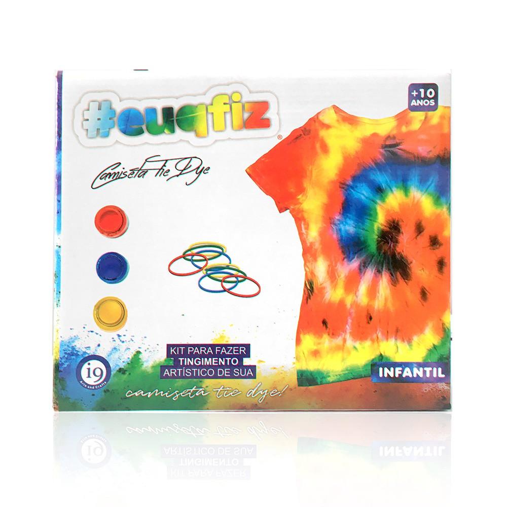 Kit Tie Dye - Com Camiseta - Infantil Tamanho M - EuQFiz - I9 Brinquedos