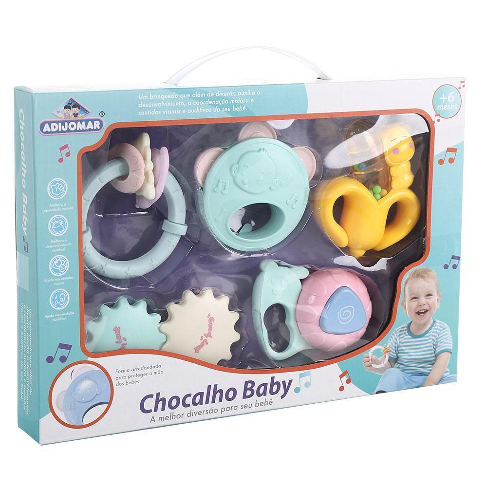 Kit Chocalhos Baby - 5 peças - Coloridos - Adijomar