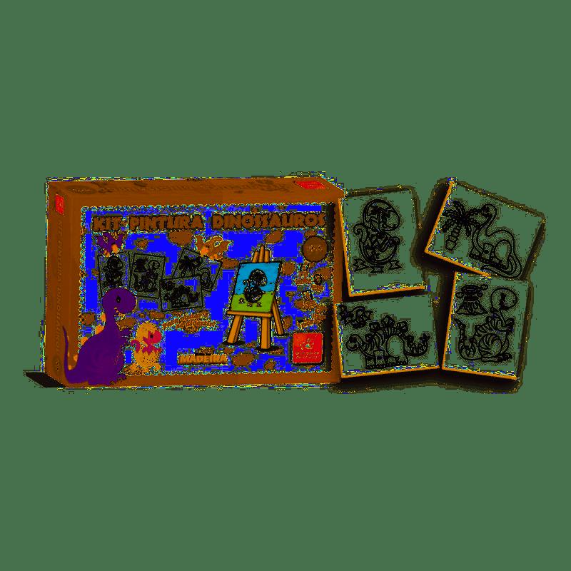 Kit de Pintura - Dinossauros - Brincadeira de Criança