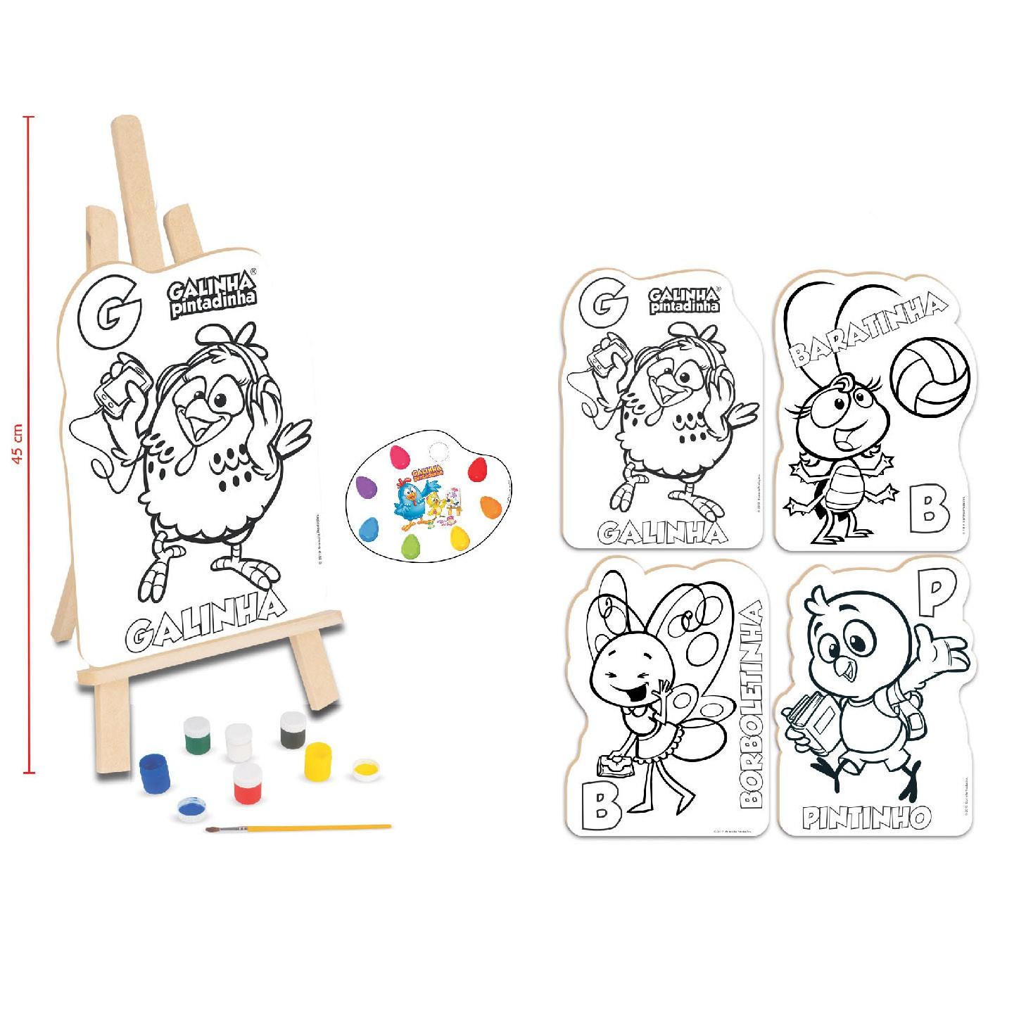 Kit de Pintura - Galinha Pintadinha - Nig Brinquedos