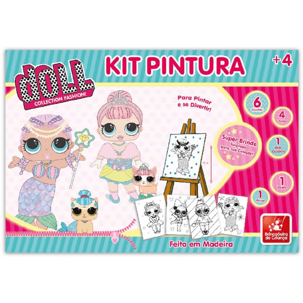 Kit de Pintura - Doll Collection - Brincadeira de Criança