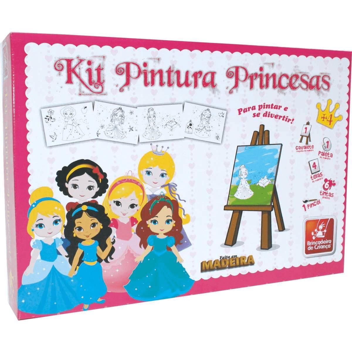 Kit de Pintura - Princesas - Brincadeira de Criança