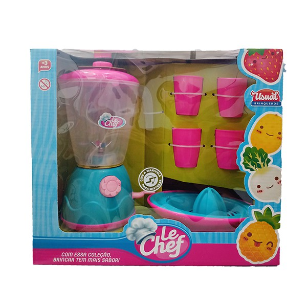Kit Liquidificador - Le Chef - Com Acessórios - Usual Brinquedos