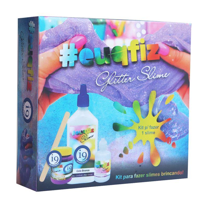 Kit Slime Glitter - 1 Slime -  Euqfiz - I9 Brinquedos