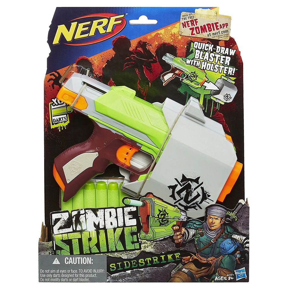 Lança Dardo Nerf Zombie Sidestrike - Hasbro