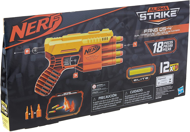 Lança Dardos Nerf - Alpha Fang com Target Duplo - Hasbro