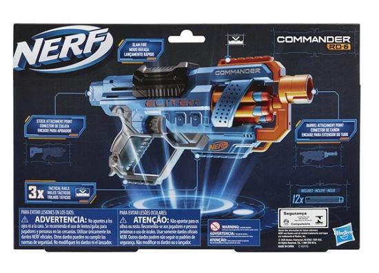 Lança Dardos - Nerf  Elite 2.0 - Commander RD-6 - Hasbro