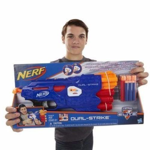 Lançador Nerf Dual Strike Elite - Hasbro