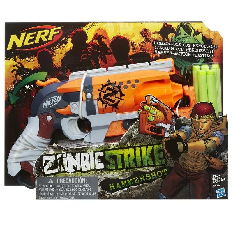 Lançador Nerf Zombie Strike - Hammershot - Hasbro