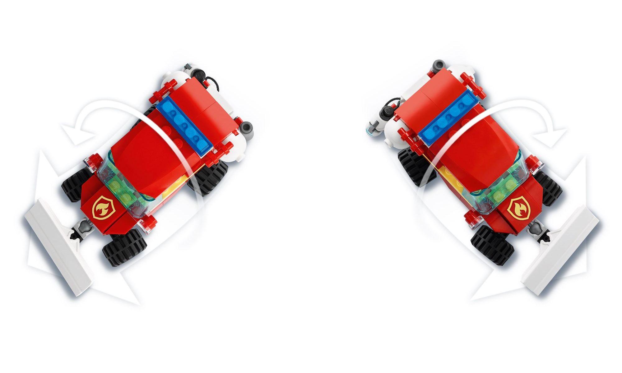 Lego City - Jipe de Assistência dos Bombeiros - 87 Peças - 60279