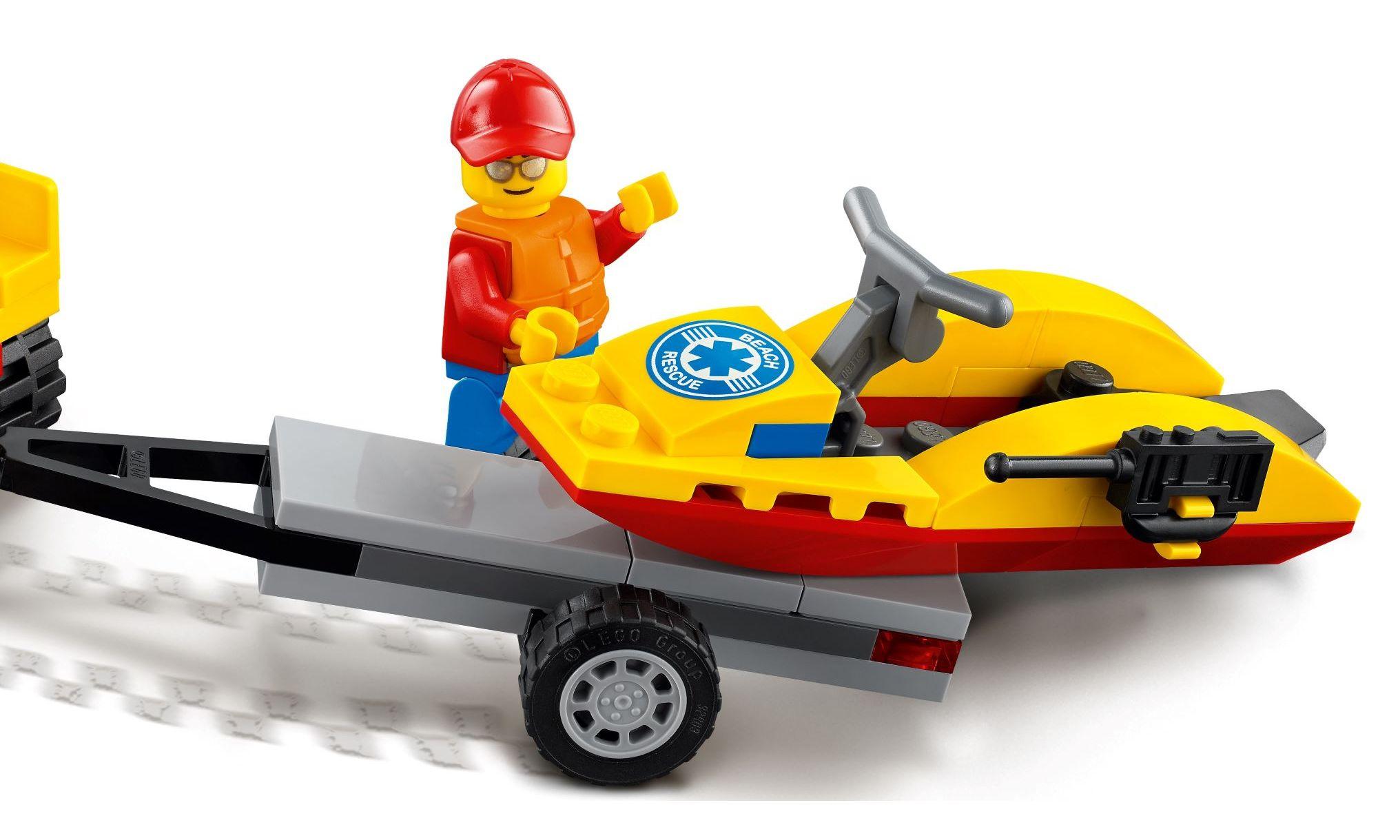 Lego City - Off-Road de Resgate na Praia - 79 Peças - 60286