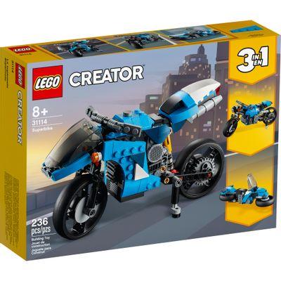 Lego Creator - Supermoto - 236 Peças - 31114