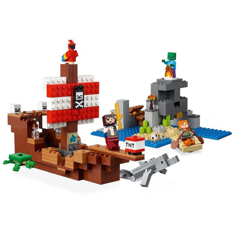 Lego Minecraft - A Aventura do Navio Pirata - 21152