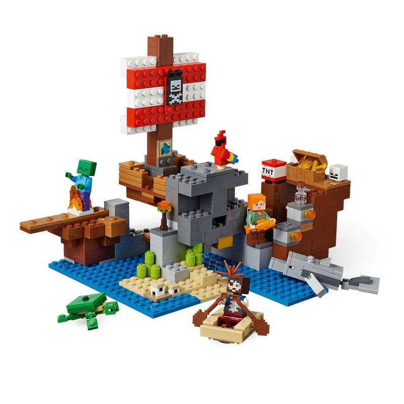 Lego Minecraft - A Aventura do Navio Pirata - 21152
