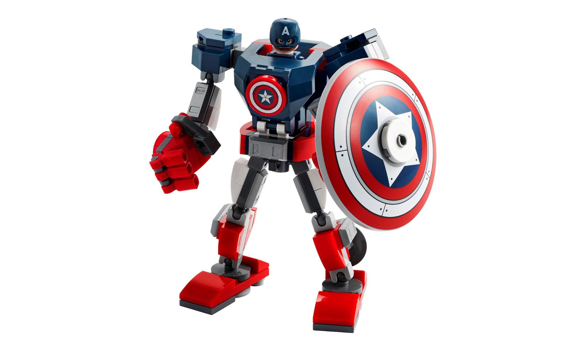 Lego Super Heroes Marvel - Armadura Robô do Capitão América - 121 Peças - 76168