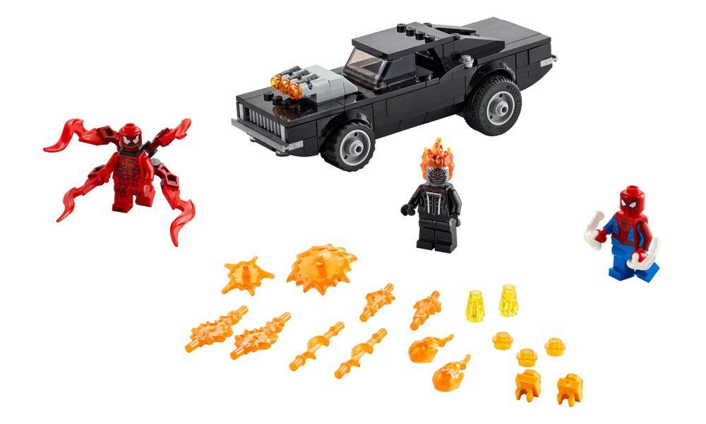 Lego Super Heroes Marvel - Homem Aranha e Motoqueiro Fantasma vs. Carnificina - 212 Peças - 76173