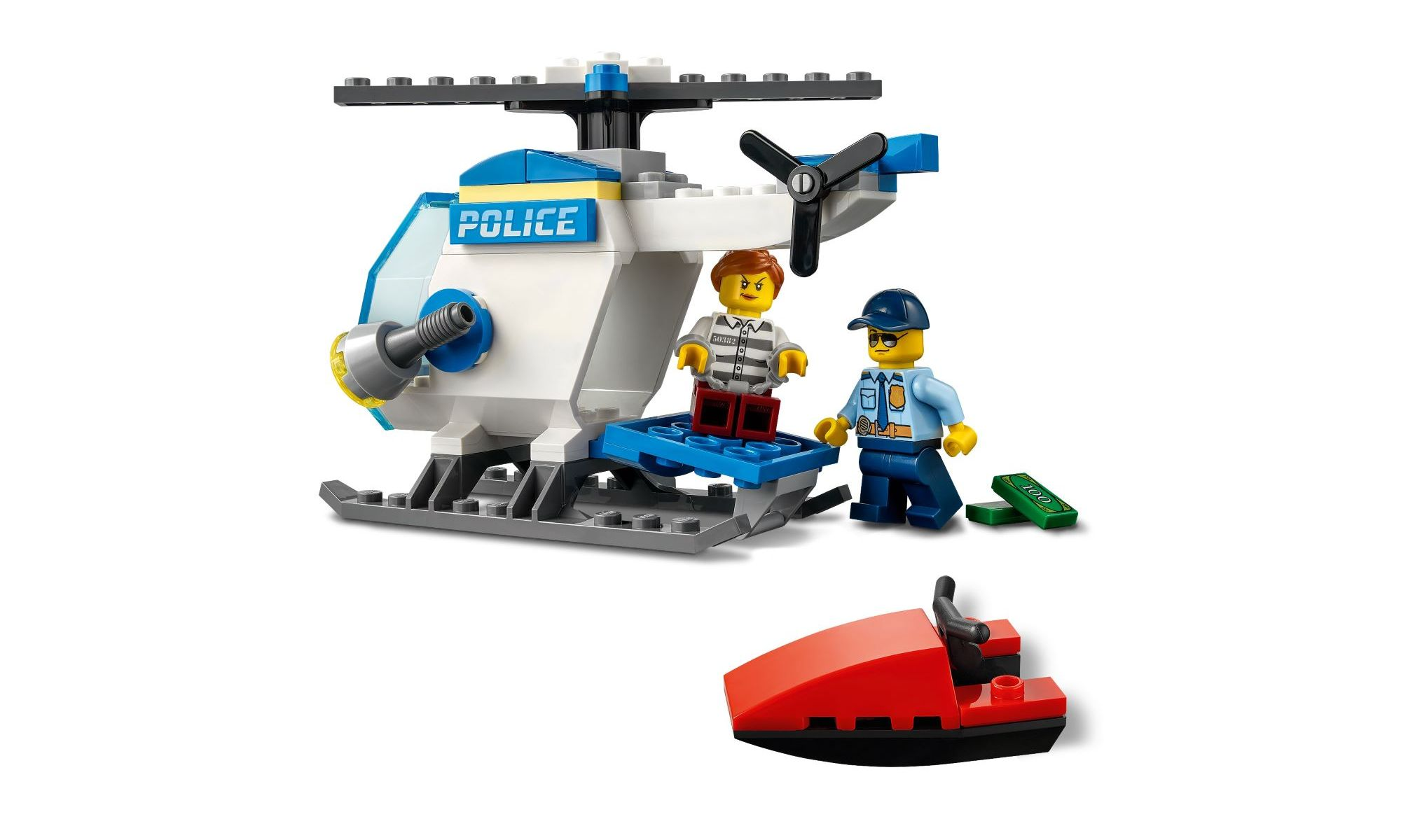 Lego City - Helicóptero da Polícia - 51 Peças - 60275