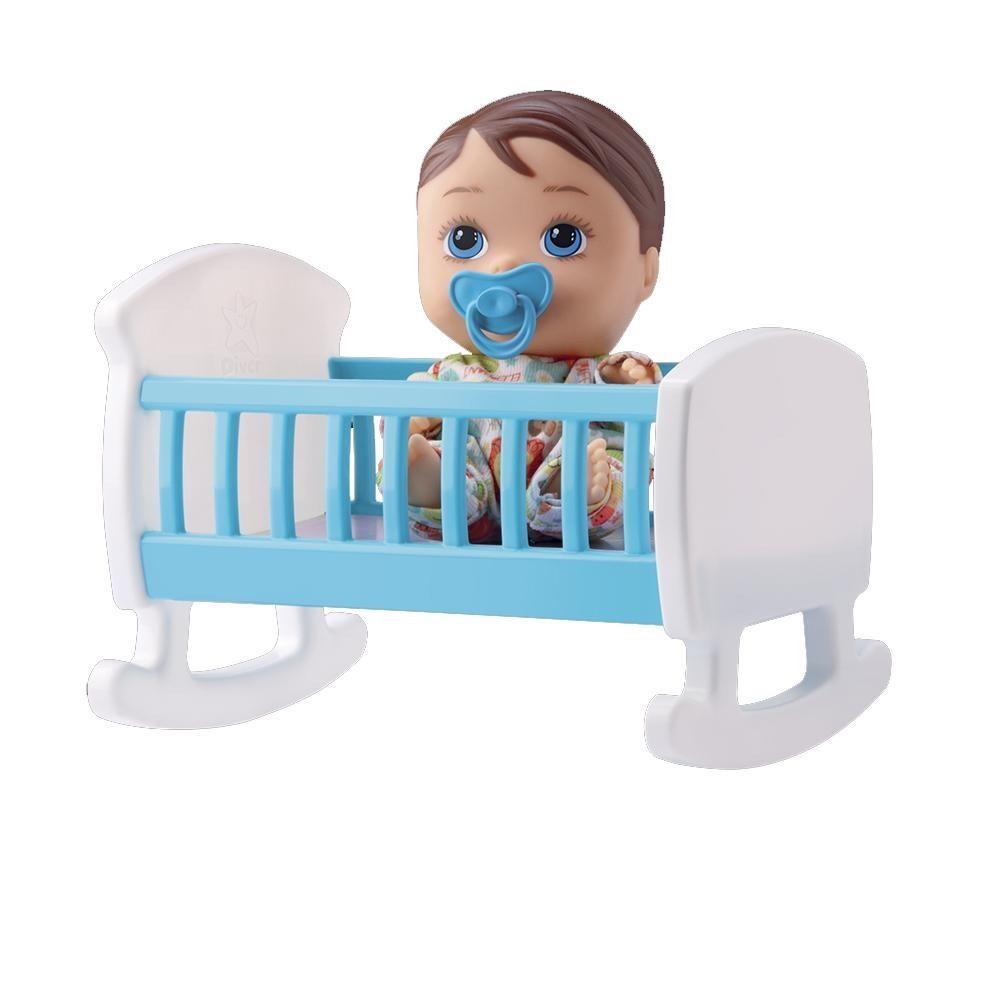 Little Dolls Bercinho - Menino - Diver Toys