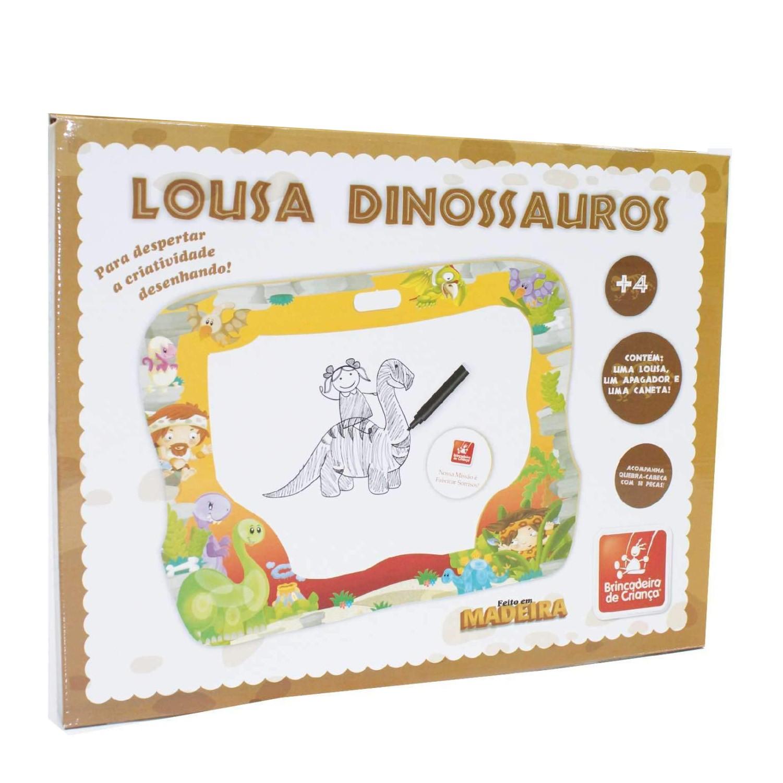 Lousa Dinossauros - Madeira - Brincadeira de Criança
