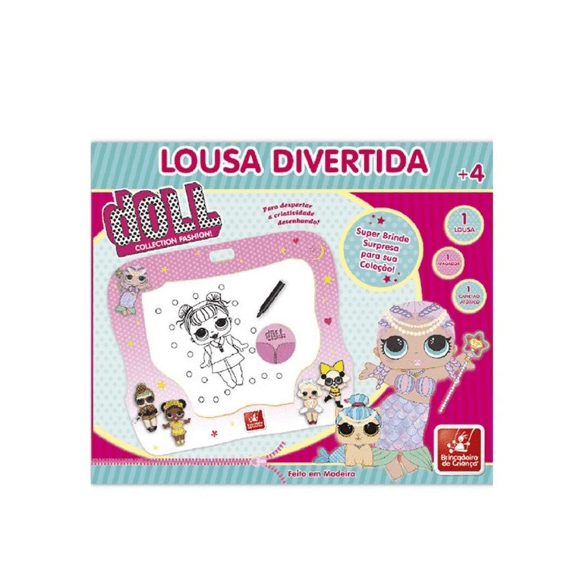 Lousa Divertida - Doll Collection - Brincadeira de Criança