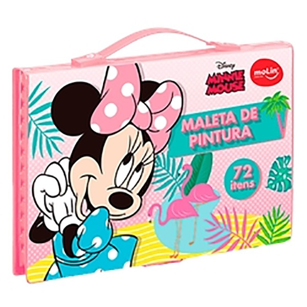 Maleta De Pintura - Minnie - 72 Peças - Molin