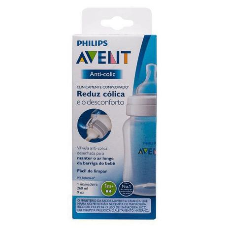 Mamadeira - Clássica - Anti Cólica - 260 ml - (+1 mês) - Philips Avent